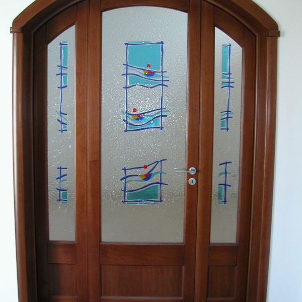 Vitrovetrateartistiche - VETRATA AZUR WINDOW